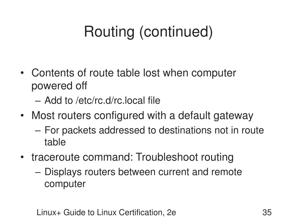 Routing (continued)