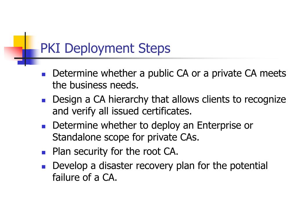 PKI Deployment Steps