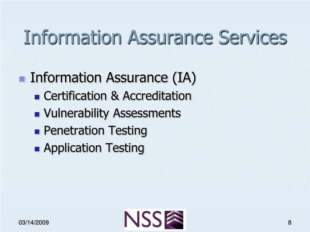 Information Assurance Services