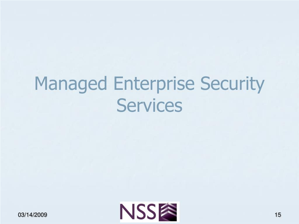 Managed Enterprise Security Services
