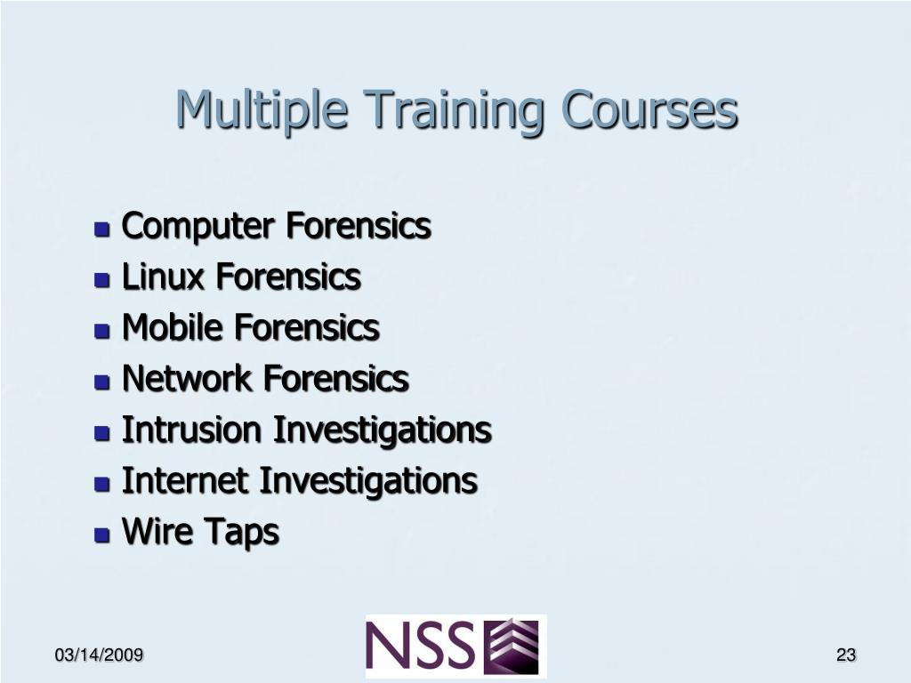 Multiple Training Courses