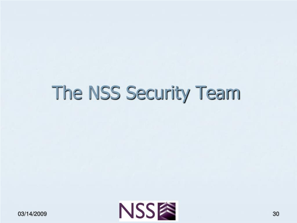 The NSS Security Team
