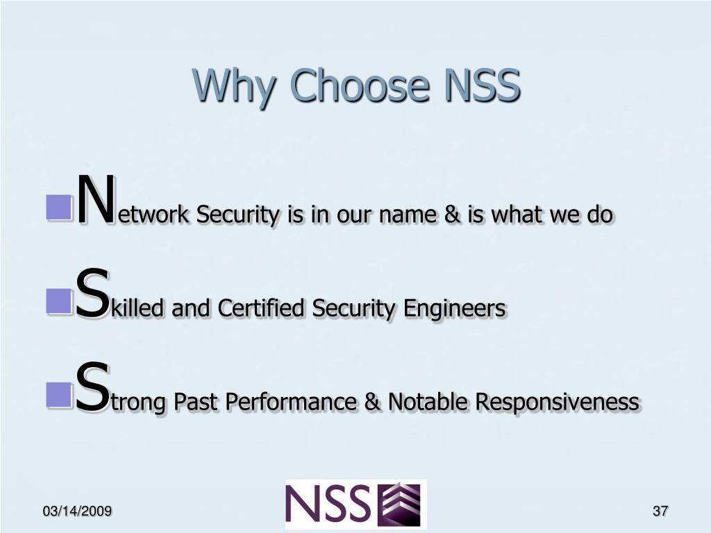 Why Choose NSS