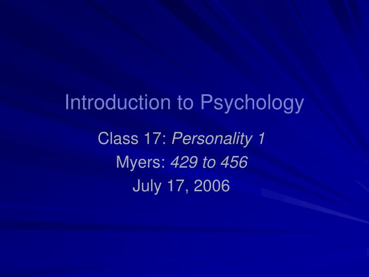 Introduction to psychology l.jpg