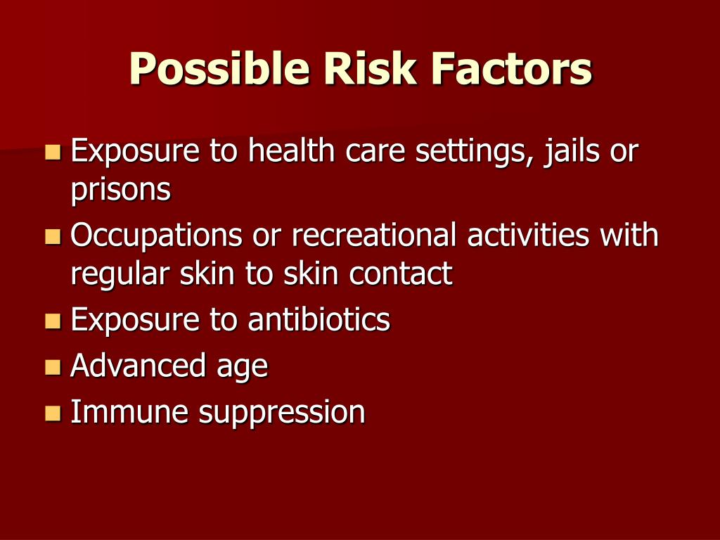 Possible Risk Factors