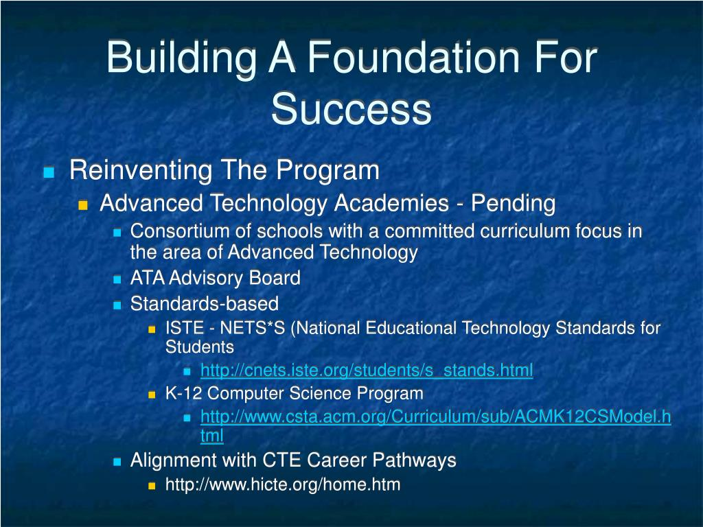 Building A Foundation For Success