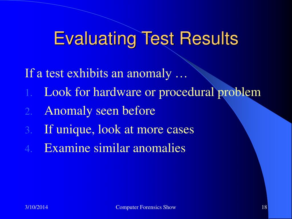 Evaluating Test Results