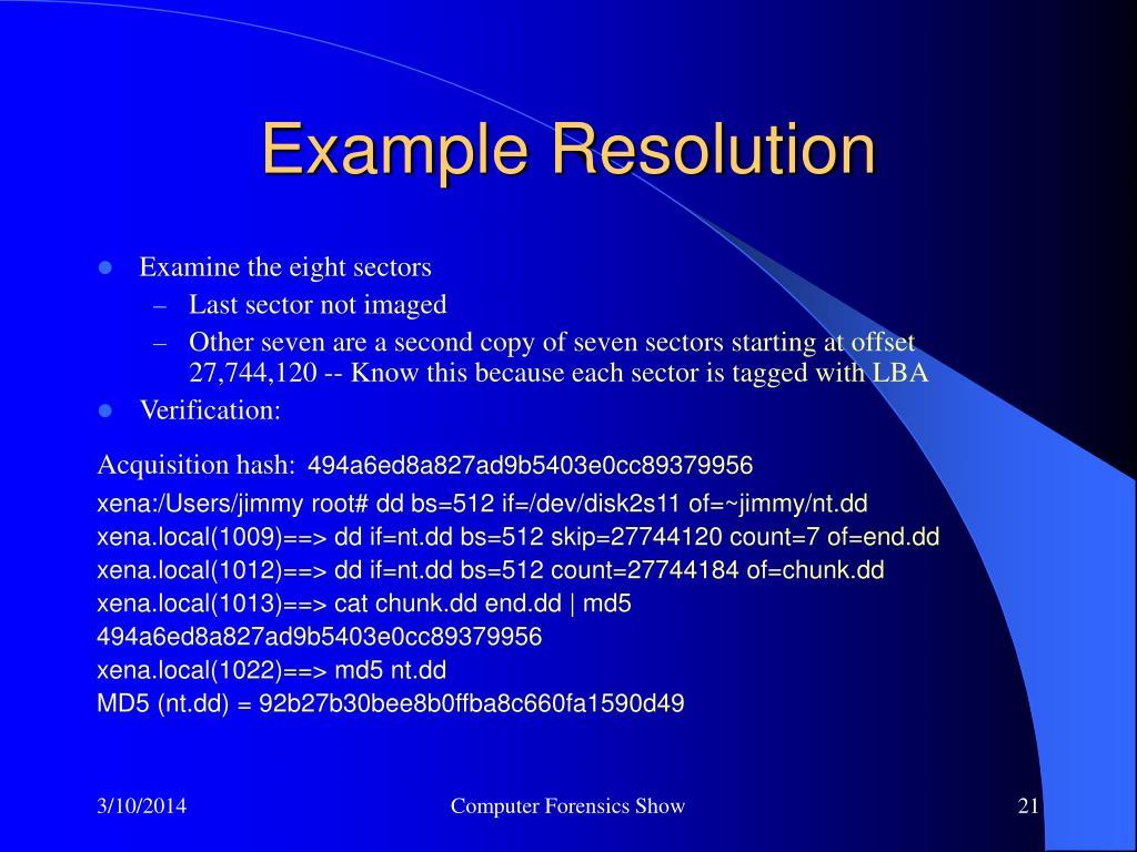 Example Resolution