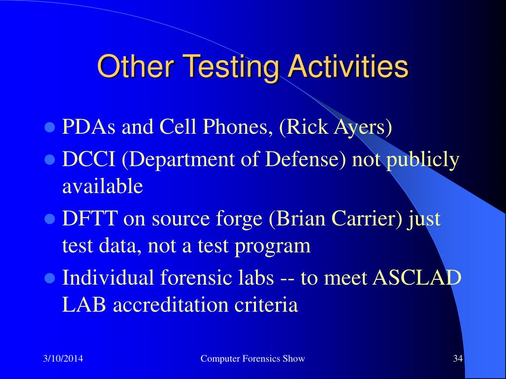 Other Testing Activities