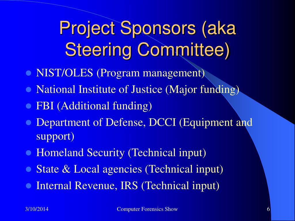 Project Sponsors (aka Steering Committee)