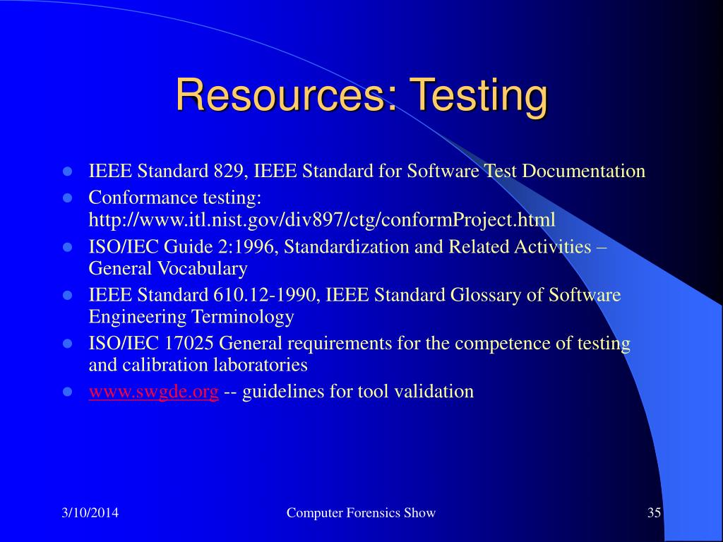 Resources: Testing