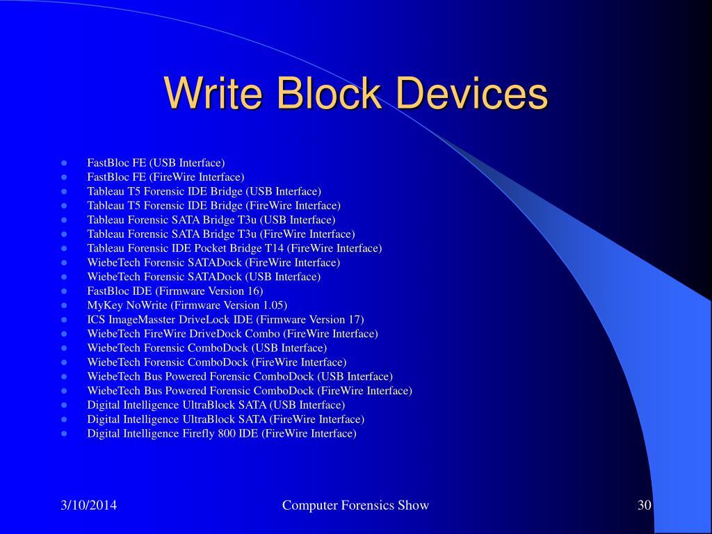 Write Block Devices