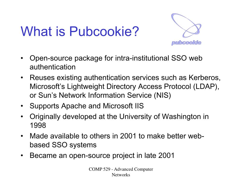 What is Pubcookie?