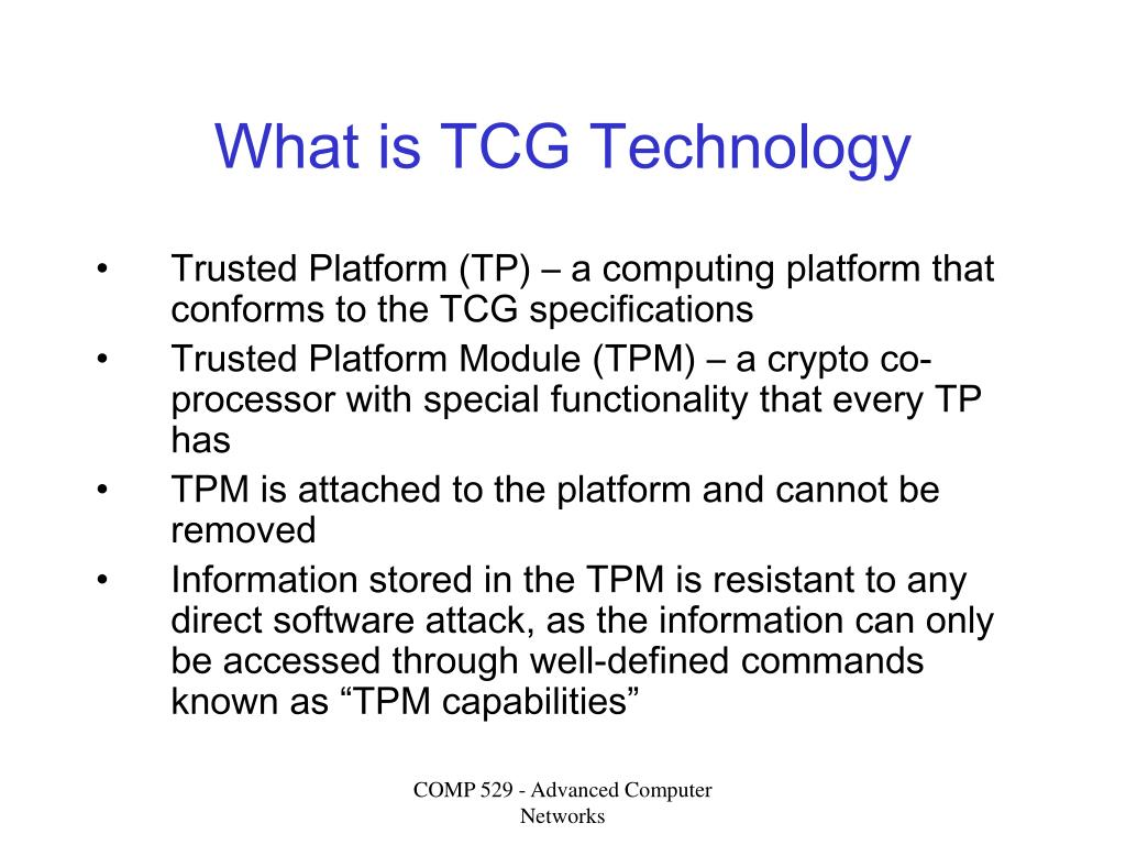 What is TCG Technology