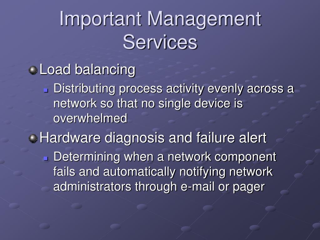 Important Management Services
