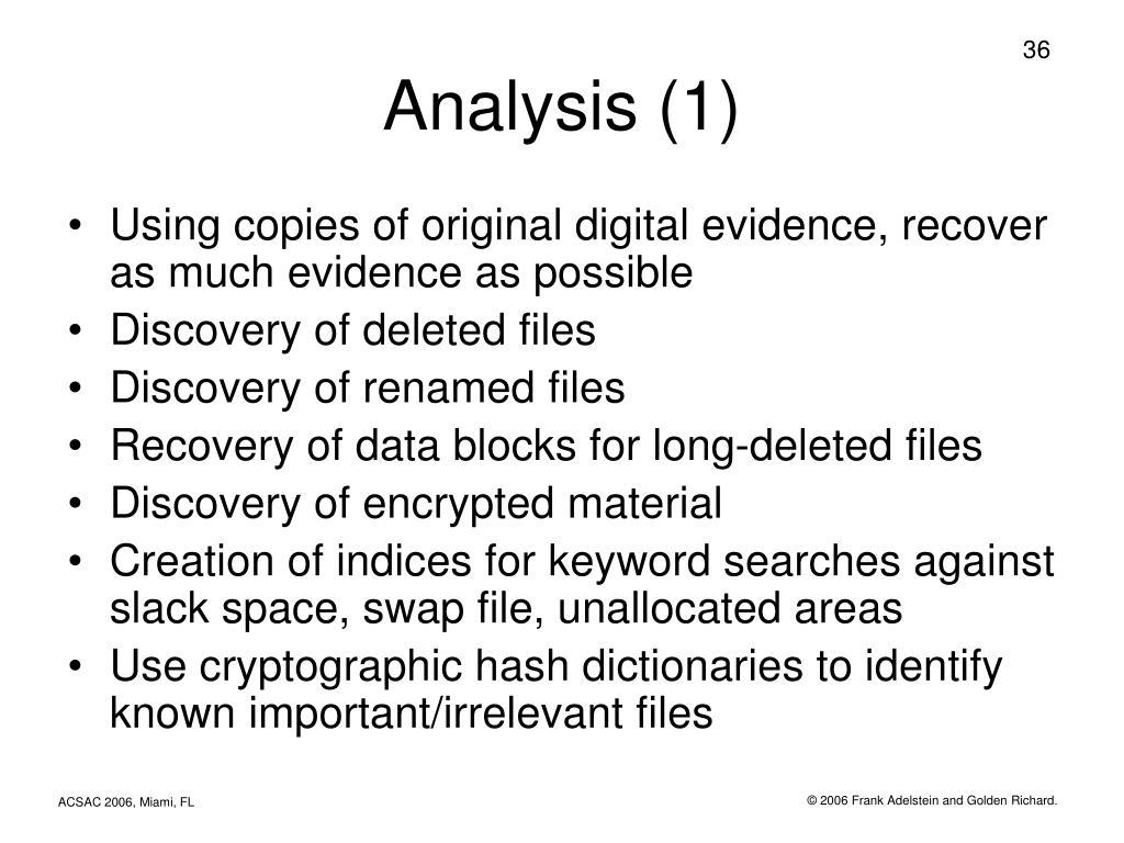Analysis (1)