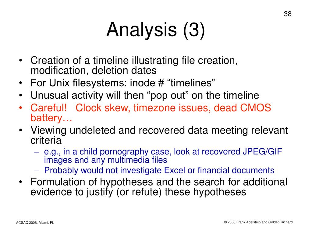 Analysis (3)
