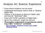 analysis art science experience
