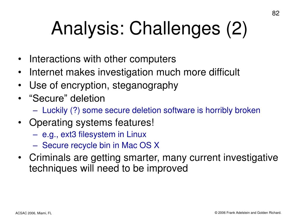 Analysis: Challenges (2)