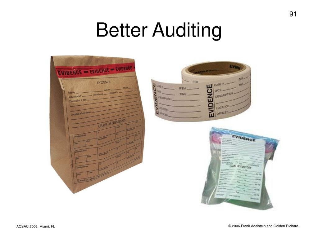 Better Auditing