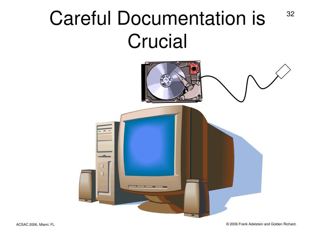 Careful Documentation is Crucial
