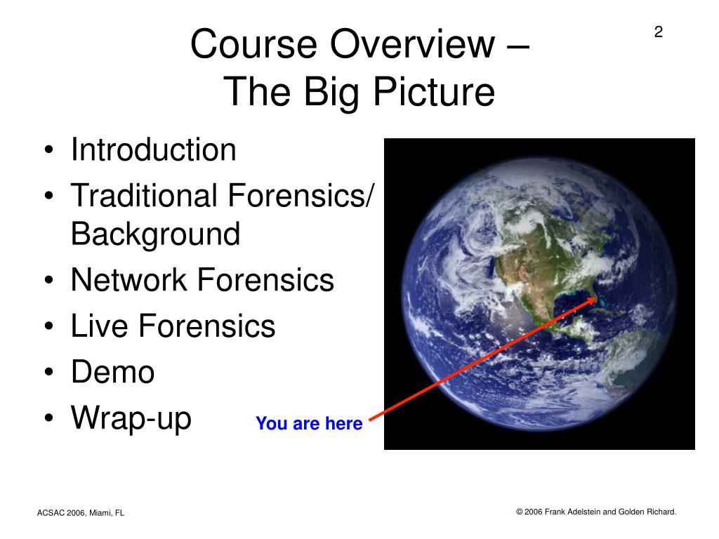 Course Overview –
