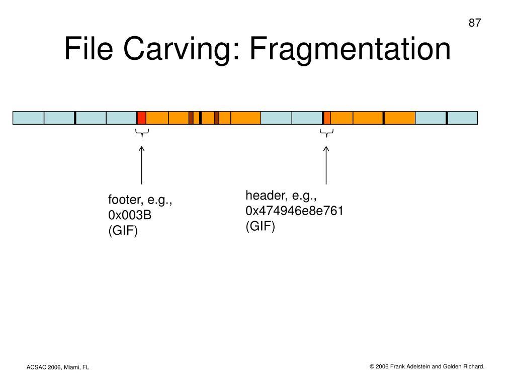 File Carving: Fragmentation