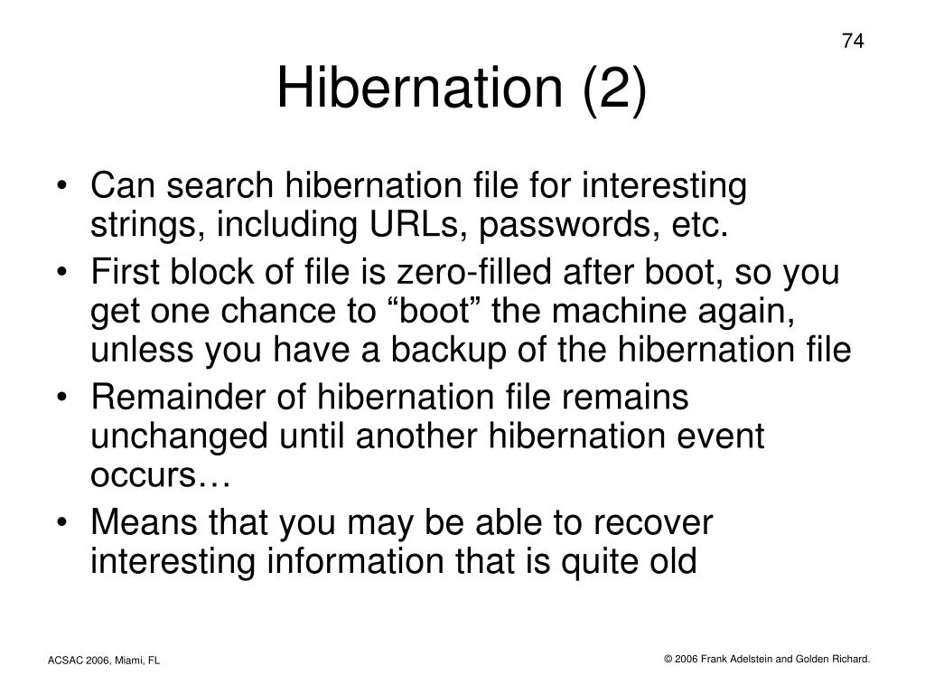 Hibernation (2)