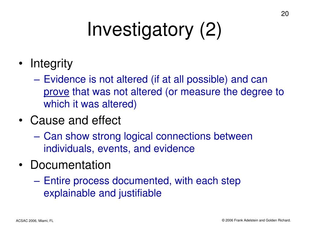 Investigatory (2)