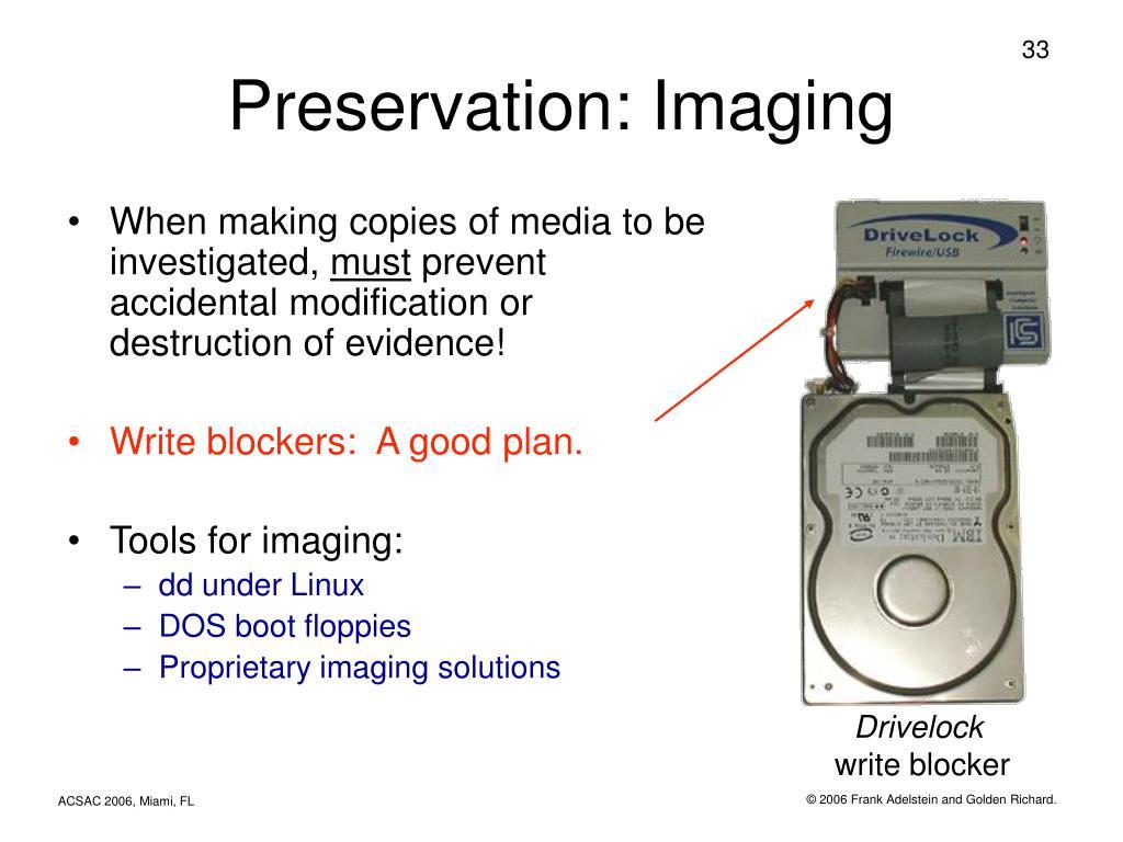 Preservation: Imaging