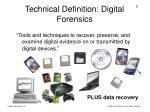 technical definition digital forensics