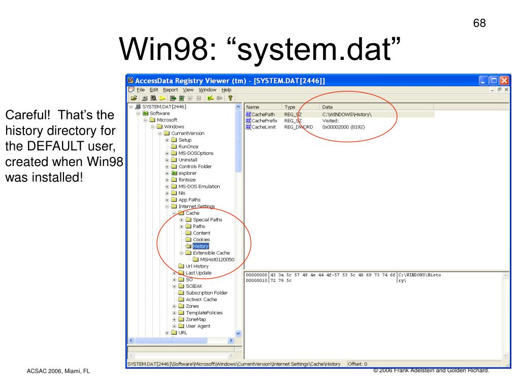 "Win98: ""system.dat"""