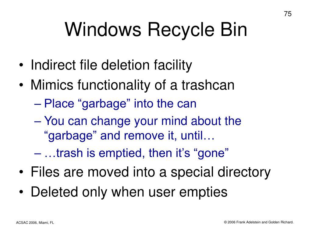 Windows Recycle Bin