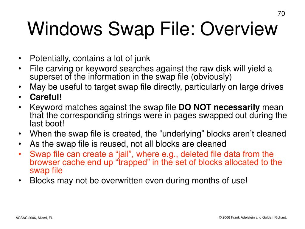 Windows Swap File: Overview