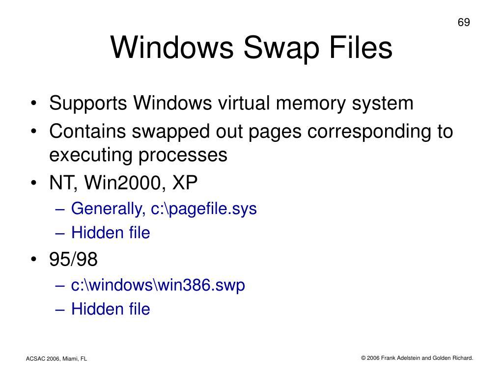 Windows Swap Files