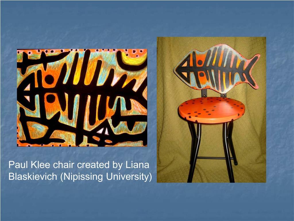 Paul Klee chair created by Liana