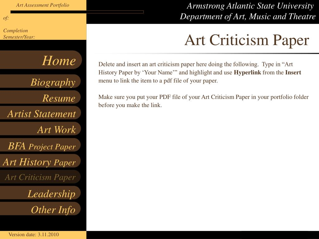 Art Criticism Paper