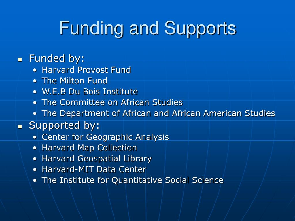 Funding and Supports