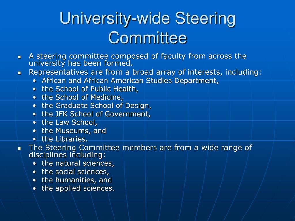 University-wide Steering Committee