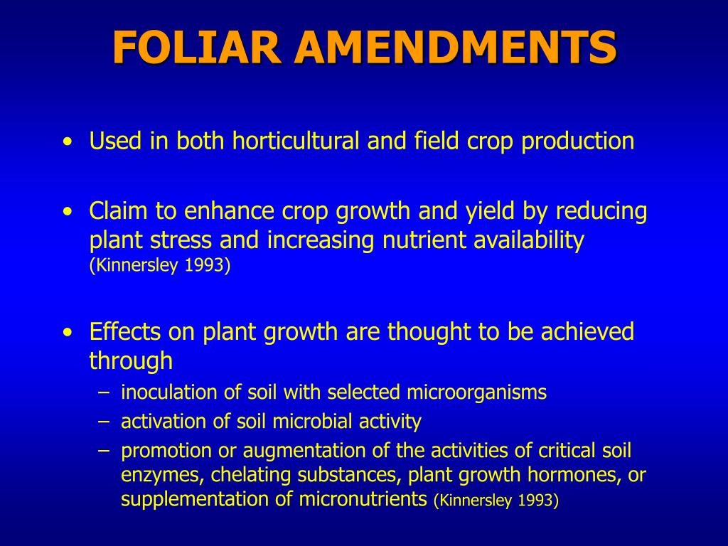 FOLIAR AMENDMENTS