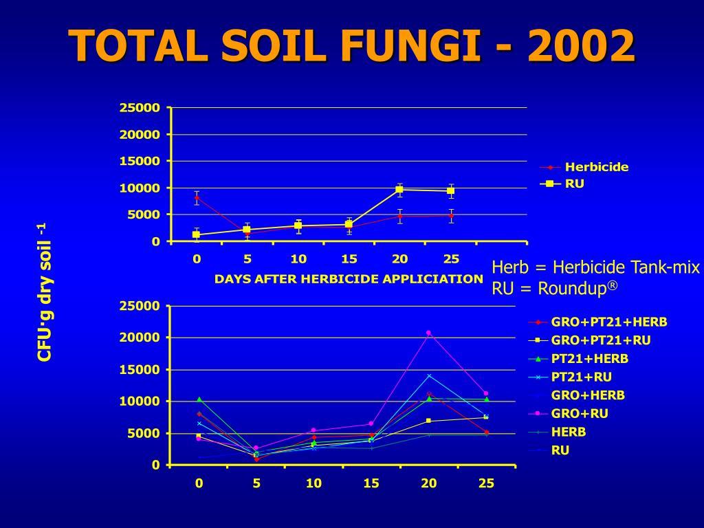 TOTAL SOIL FUNGI - 2002