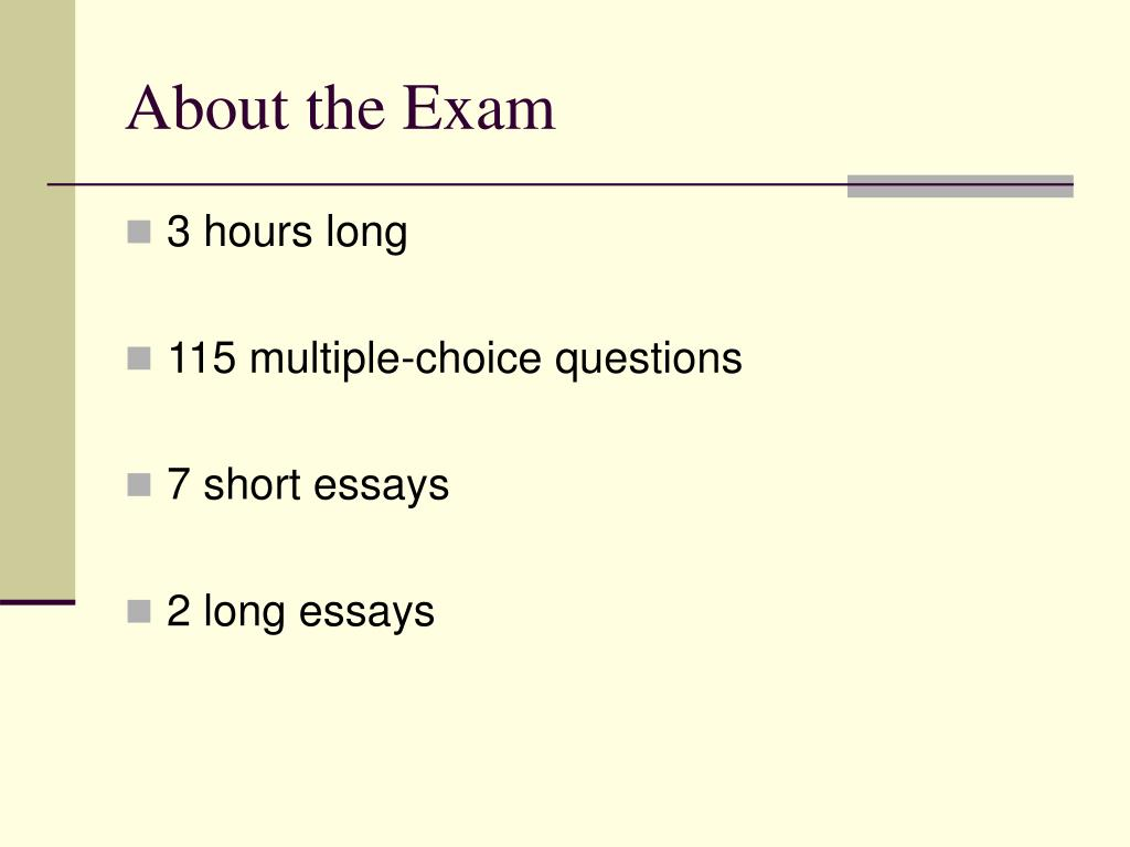 About the Exam