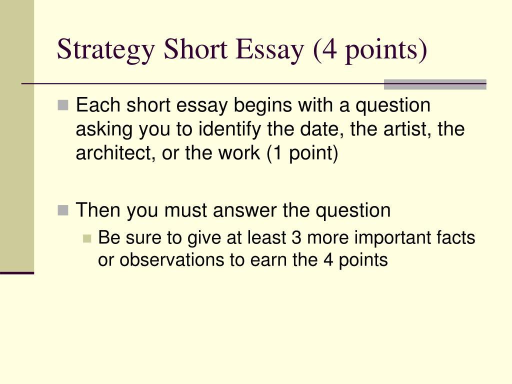 Strategy Short Essay (4 points)