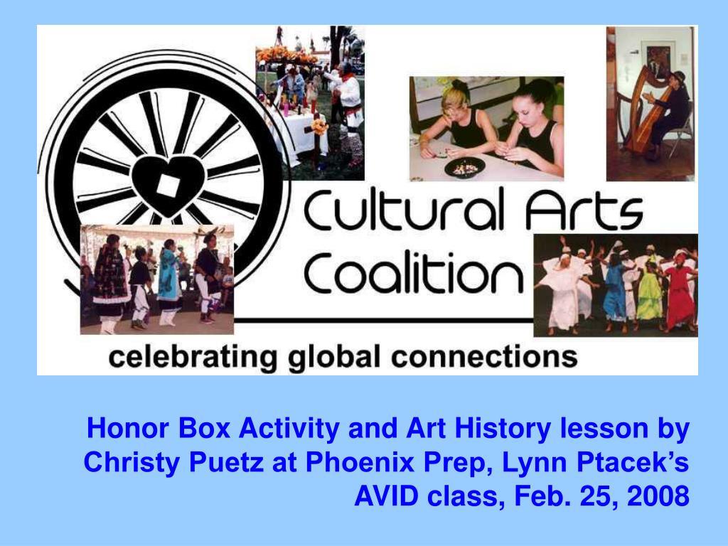 Honor Box Activity and Art History lesson by Christy Puetz at Phoenix Prep, Lynn Ptacek's AVID class, Feb. 25, 2008