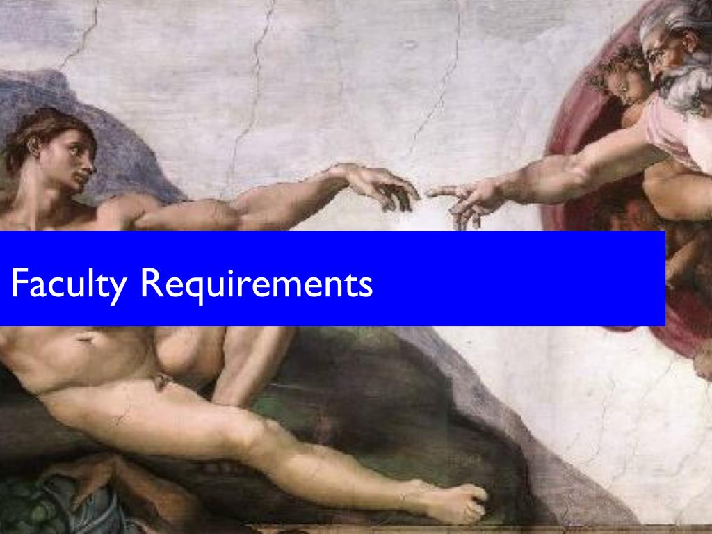 Faculty Requirements