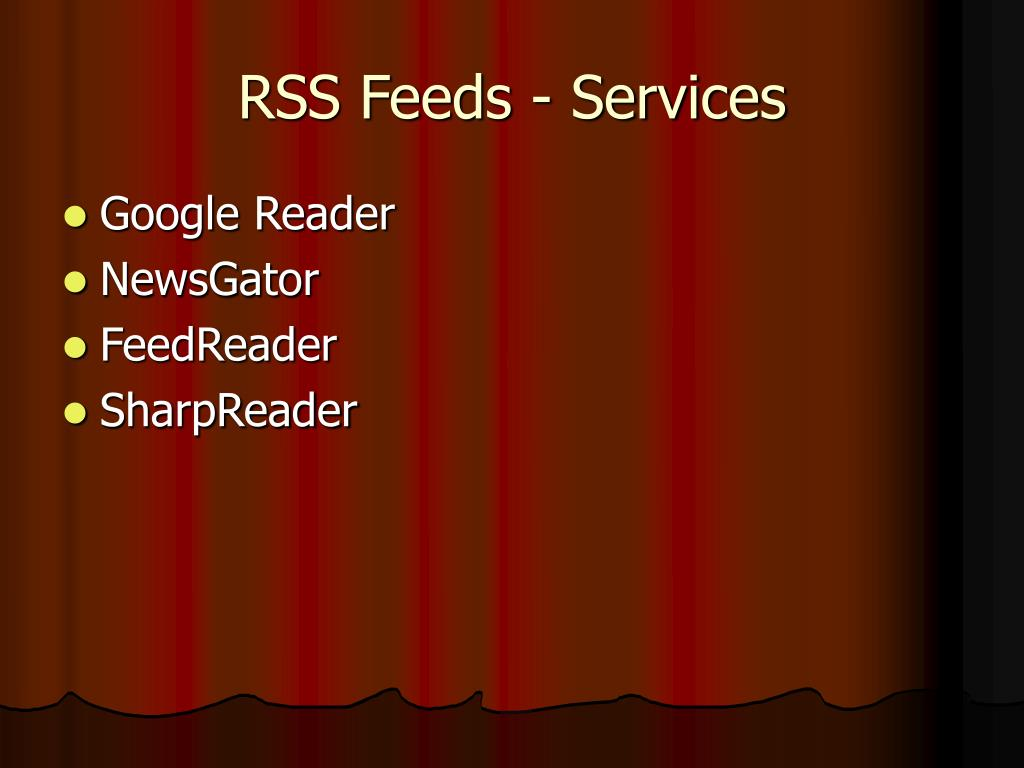 RSS Feeds - Services
