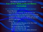 new media and art history continued uses of new media in the art history curriculum