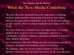 new media and art history what the new media contribute
