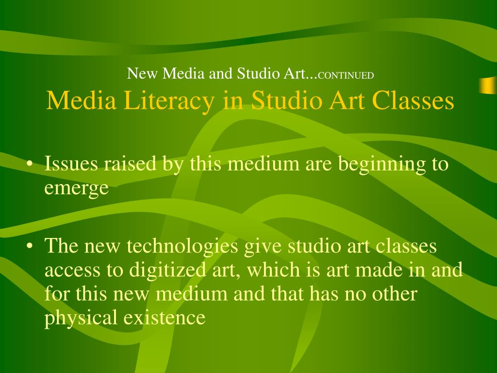 New Media and Studio Art...