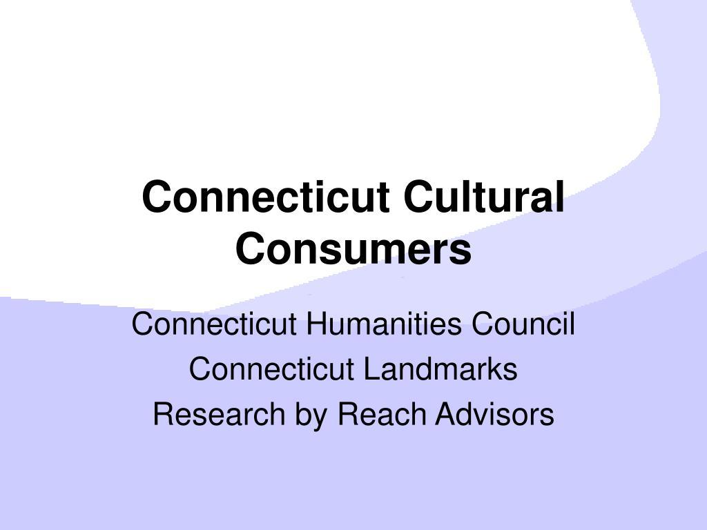 Connecticut Cultural Consumers